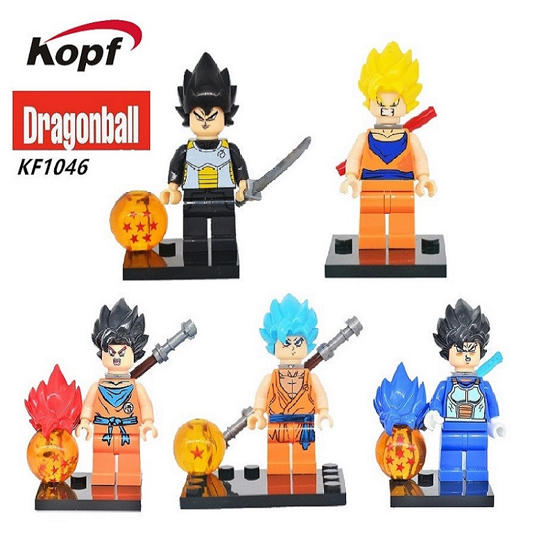 Super Heroes Star Wars Single Sale Dragon Ball Z Goku Bricks Son Vegeta Master Building Blocks Learning Toys for children KF1046 single sale super heroes master wu garmadon nya the wei snake lloyd bricks ninja movie building blocks children gift toys pg1020