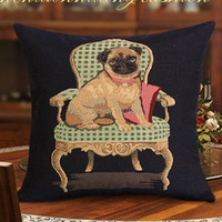1pc New Arrival Jacquard Knitting Dog Cushion Cover Two Sides Printed Cute Dog Home Decorative Pillow