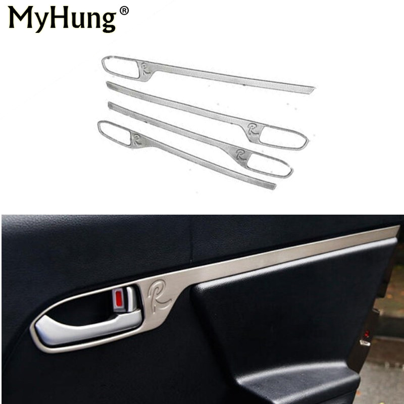 Car-Styling Door Handle Bowl Cover Door Handle Bowl Sticker For Kia Sportage R 2010 2011 2012 2013 2014 2015 Stainless Steel 4Ps цена