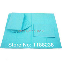 "125pcs 13""X18"" Blue Tattoo Cleaning Wipes Disposable Dental Piercing Bibs Waterproof Sheets 3-ply Paper Tattoo Accessories"