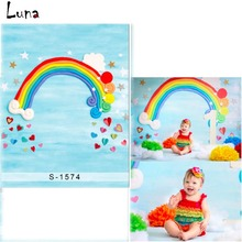 Cartoon Rainbow Photography Background Backdrop For Children Heart Background For Newborn photo studio Props 1574 kate dry land photography backdrops land photography background retro children custom backdrop props for newborn photo shoot