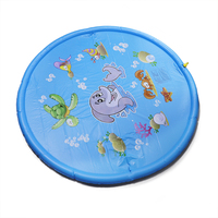 68 inch Outdoor Sprinkler Pad Swimming Ring for Children Infants Toddlers, Boys, Girls and Kids Splash Play Mat Swimming Rings