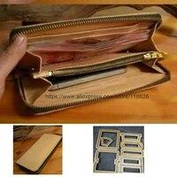 DIY leather craft молнии монет сумка кошелек чехол для телефона Штампованный нож для резки плесень руки удар инструмент шаблон 20x10x2