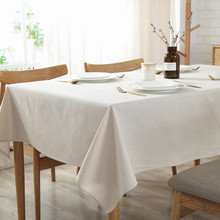 CFen As Nordic Simple Style Cotton Linen Tablecloth Solid color Quality Table Cover Tea Cloth Kitchen Dining Place Mats