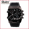 Brand Oulm Watch 9315  Quartz Sports Men Leather Strap Watches Fashion Male Military Wristwatch  Cool Relojioes Clock Masculino