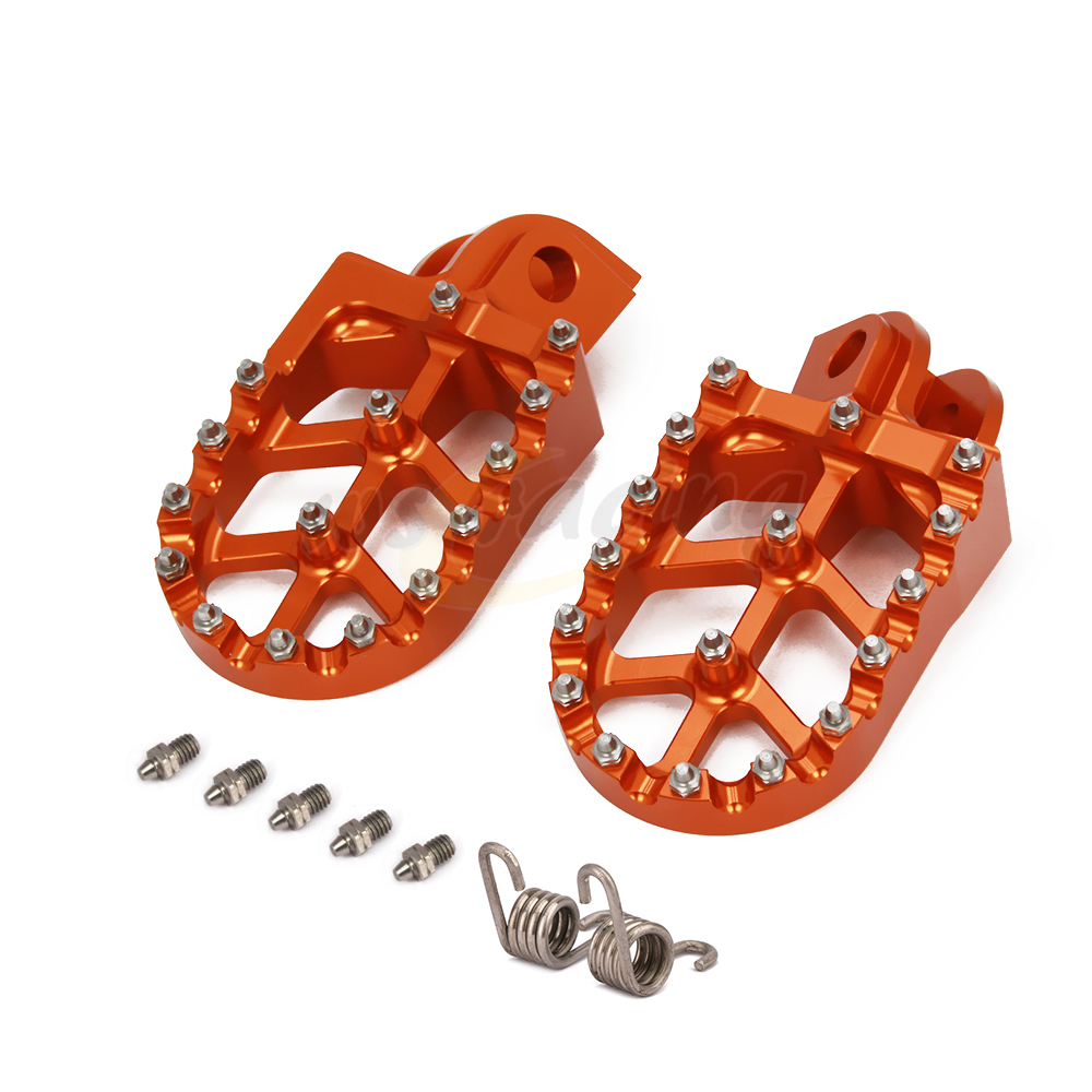 CAKEN Motorcycle Billet MX Wide Foot Pegs Pedals Rest Footpegs For KTM SX SXF