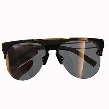 2018 Nova Moda Óculos De Sol Dos Homens Designer de Marca de Alta Qualidade com embalagem Caixa de Oculos de sol Masculino Metade Rim óculos de Sol UV400 óculos