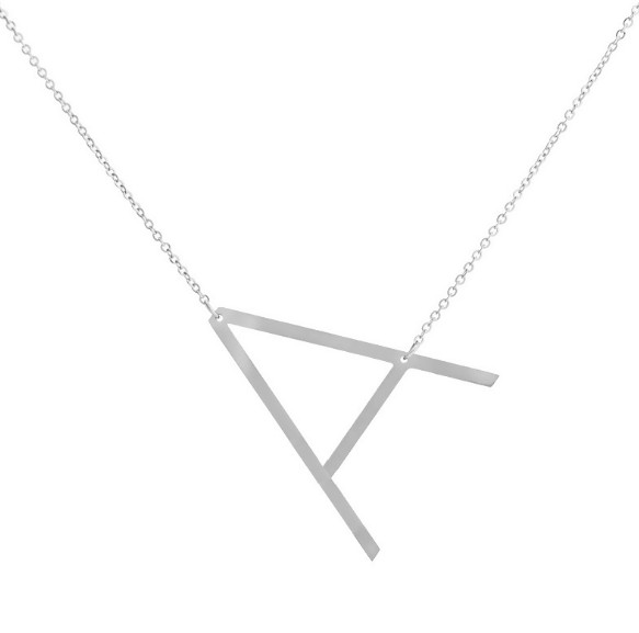 12pc/lot free ship N36-043 steel 26 English letter A B C D E F G H E F G J K L M N O P Q R S T U V W X Y Z pendant necklace ...