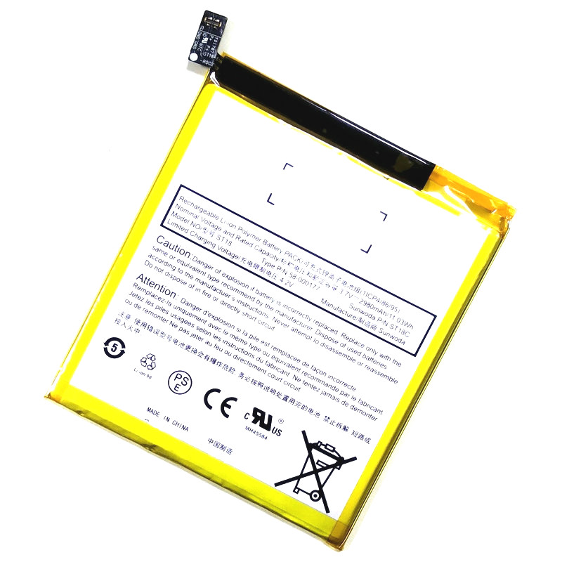 Westrock 2980mAh ST18 ST18C 58-000177 GB-S10-308594-060L Battery For For Amazon Fire 7 7th Gen 2017