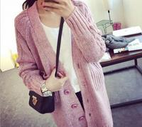 Winter Women Casual Long Sleeve Knitted Cardigans Autumn Crochet Ladies Sweaters Fashion Button Tricotado Cardigan Top Quality
