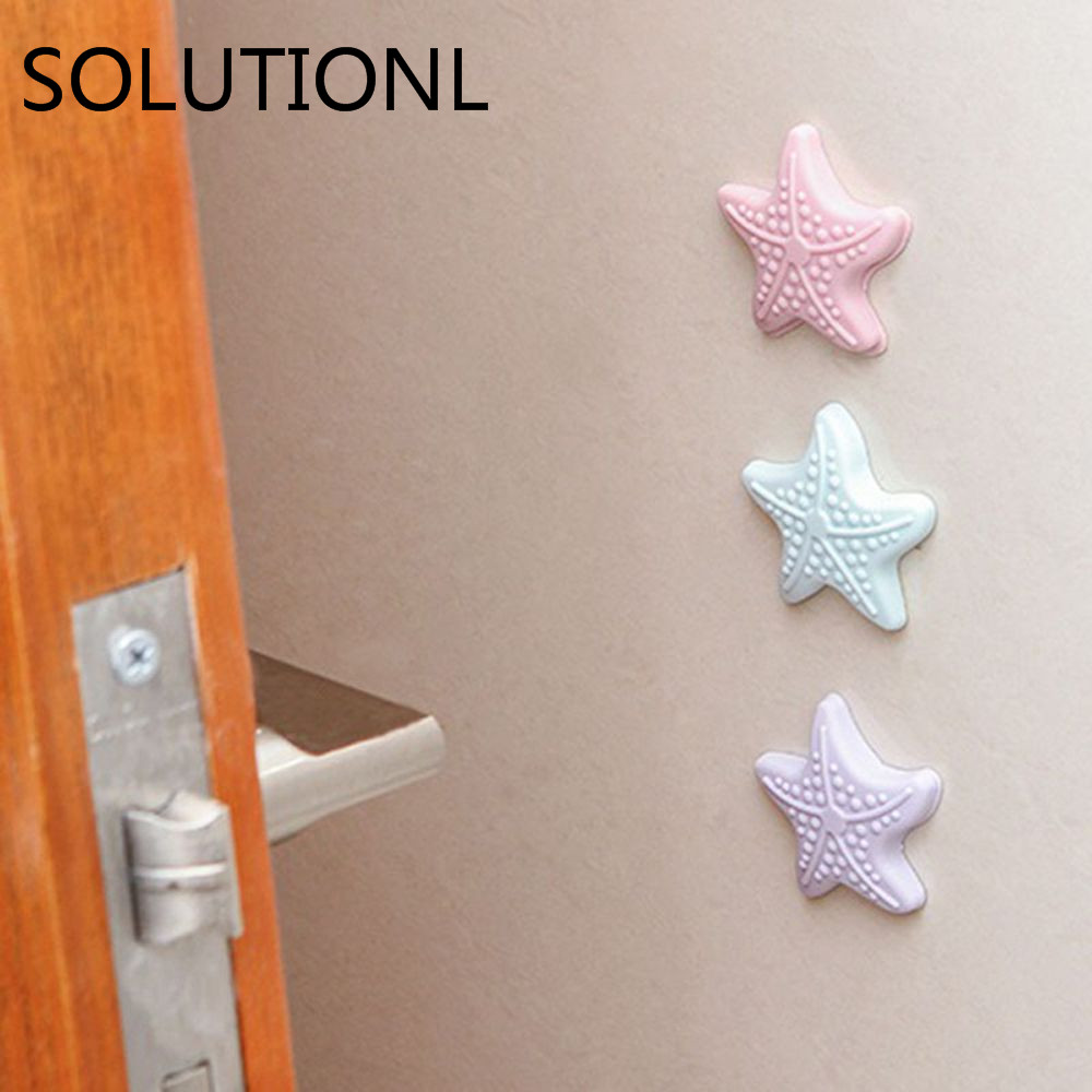 Wall Protectors Self Adhesive Rubber Stop Door Handle Bumper Guard Stoppe Luminous Cabinet Catches