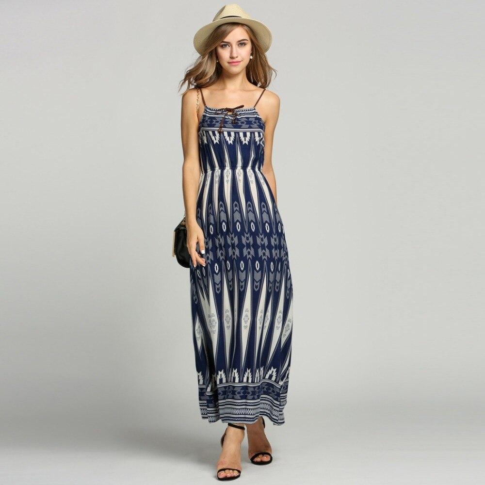 2016 summer sexy halter geometric long print dress empire for Empire waist t shirt dress