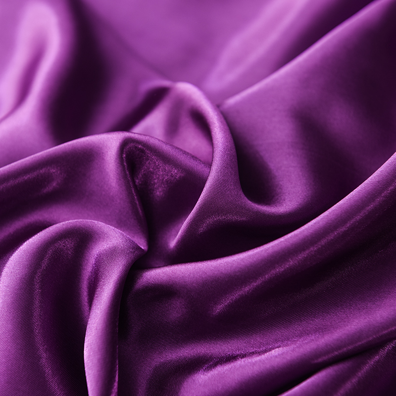 Slowdream Silky Flat Sheet Purple Solid Color Pure Silk Fabric For Adult Double Queen King Size Bedding Linen Euro Sheet 1PCS in Sheet from Home Garden
