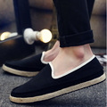 2016 Fashion Slip-On Flat Breathable Casual Male Shoes, Striped Solid Men Summer Fashion Shoes