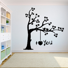 Tree Wall Decal Sticker Bedroom tree of life roots birds flying away home I love you the wall sticker A7-016