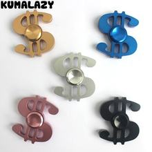 50pcs lot Free Shipping high quality crack Money fidget spinner metal anti stress stainless steel bearing