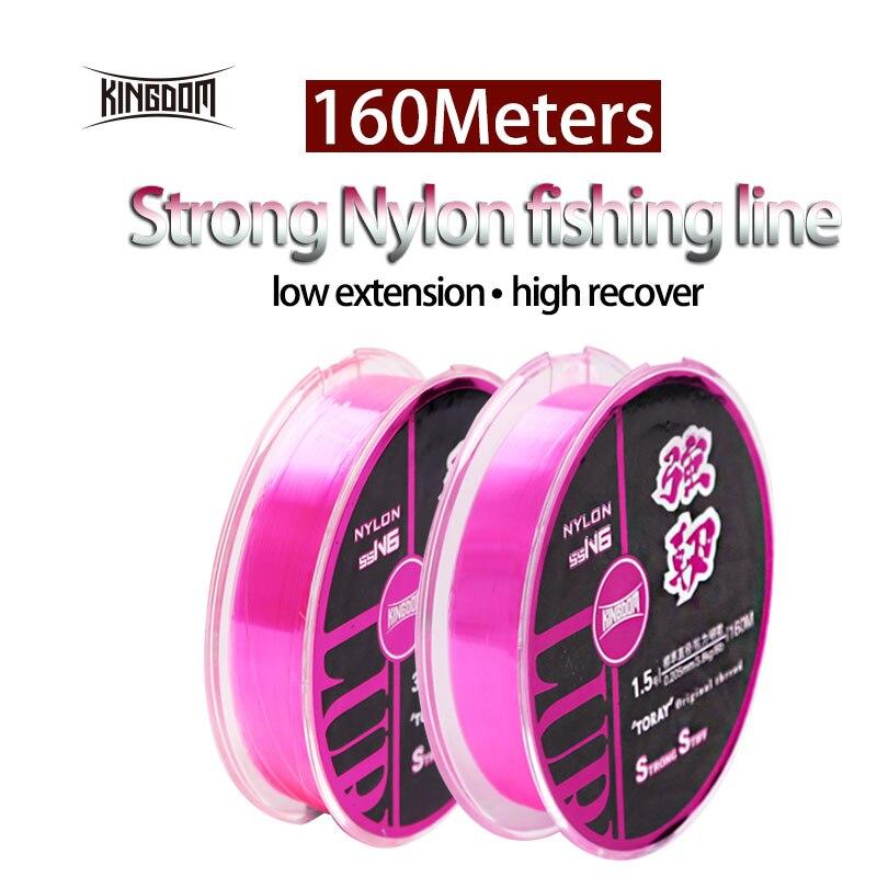 Königreich Angeln Linien Geflochtene Nylon Linie Super Steif Und Starke 160 mt 4 größen Verfügbar Importiert Beste Qualität