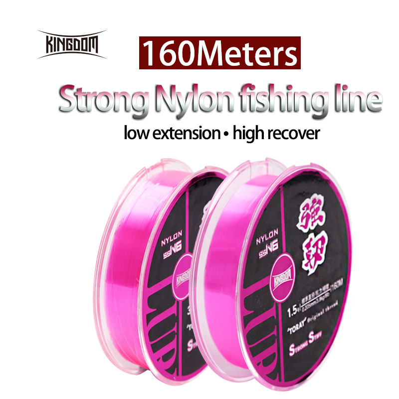 Kingdom Fishing Lines Braided Nylon Line Super Stiff And Strong 160m 4 sizes Available Imported Best Quality