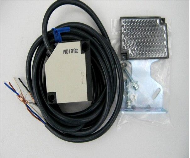 Бесплатная доставка инфракрасный луч Отражающей фотоэлектрический датчик Фотоэлемент для электрические ворота для 4 м ворота фотоэлементов