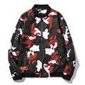 Весна Мужчины Куртку Новый 2017 Корейский Slim Fit Camflouage Мужские Пальто Случайные Мужские Ветровки, Куртки Печати Мужчина Пальто горячая