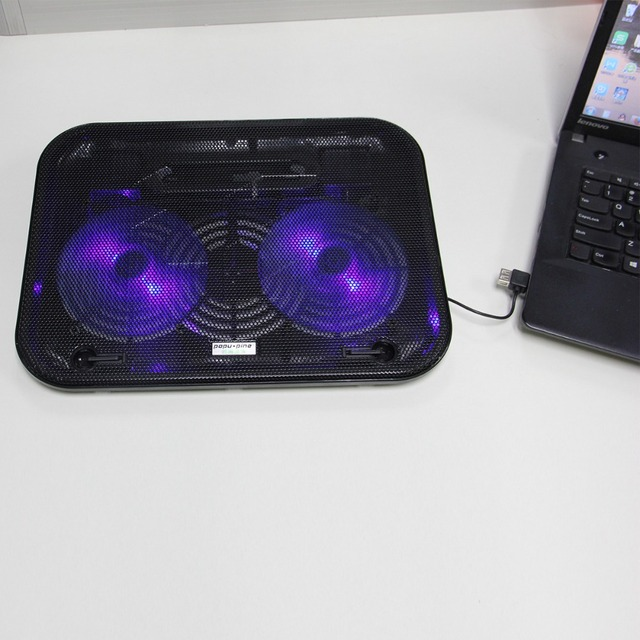 Free Shipping Laptop Cooling 2 LED Fan USB Notebook Laptop Stand Rack Cooling Cooler Base Pad