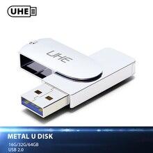 Uhe Фирменная новинка usb флэш-диск 16 г 32 г 64 г USB2.0 качество металла мини-накопитель флешки памяти устройство хранения палка U диска