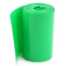 5 м 70 мм зеленый ПВХ термоусадочные трубки обёрточная Крышка для 4x18650 батареи