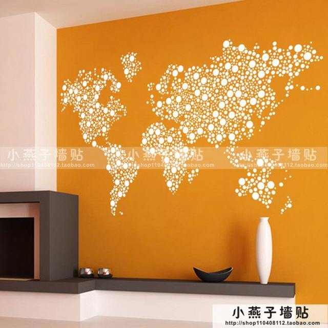 Online shop large new design art pattern creative world map wall large new design art pattern creative world map wall stickers world map wall decals circles dot sticker decal gumiabroncs Image collections