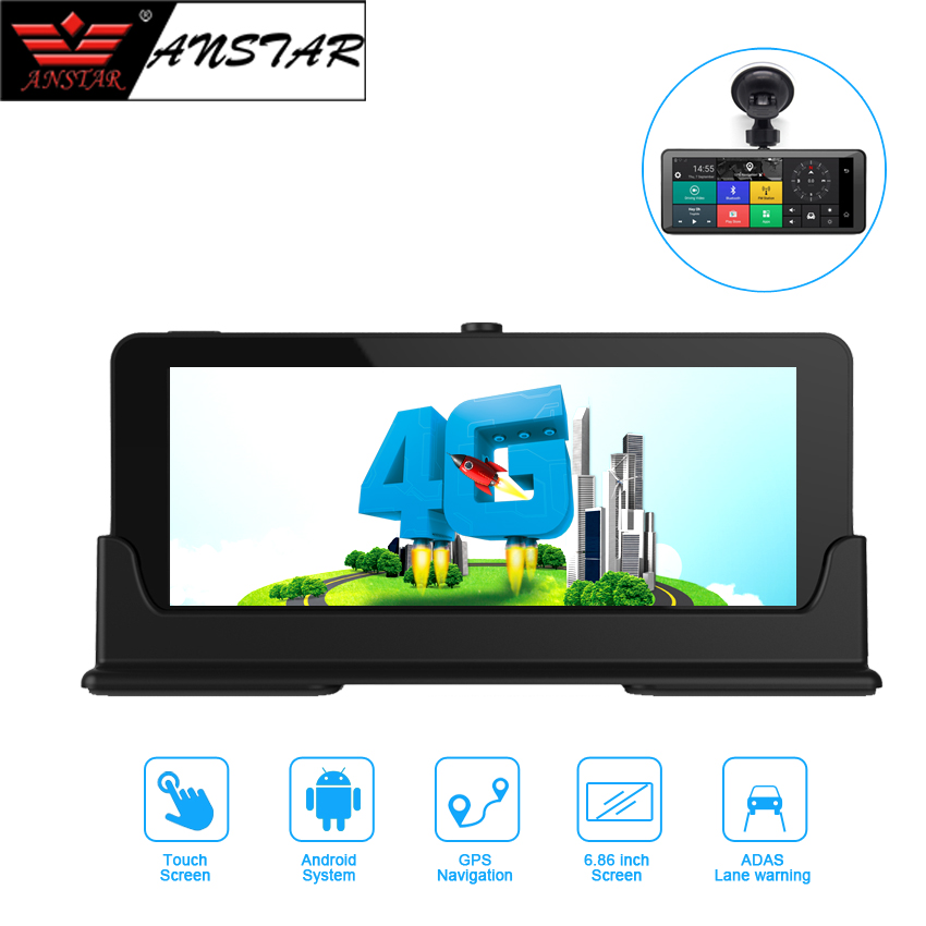 ANSTAR 1080P HD 4G Wifi Car DVR 7 Camera Android 5.1 GPS Navigation ADAS Remote Monitor Dual Len Dash Cam with Rear Camera X7N ...