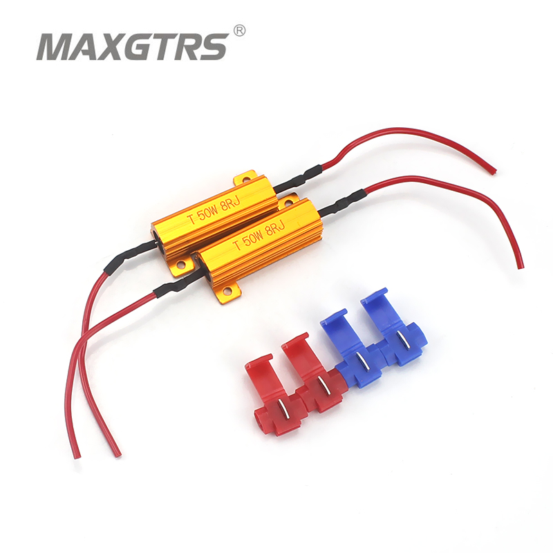 цена на 4x Universal Add-on 50W 6 8 ohm LED Load Resistor Car Led Light Bulbs Fix Error Free Canbus Cancel Decoder Turn Signal Blinker