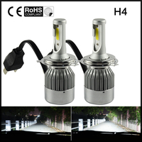 2Pcs 72W H4 Hi Lo 7600LM Led Car LED Headlight Kit Bulb 6000K White Automobiles Headlamp