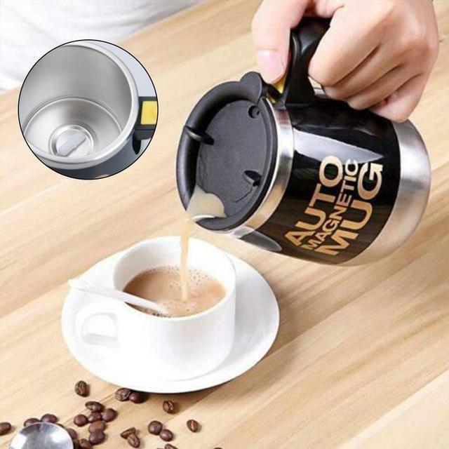 Taza mezcladora de acero inoxidable café leche 400ml 1