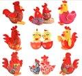 20 см мультфильм характер талисман свадебный новогодний подарок чучела животных детские плюшевые китайский зодиак курица плюшевые игрушки куклы оптовая