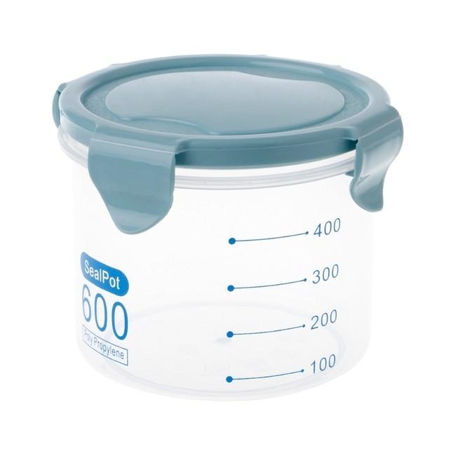 600/800ml Kitchen Food Cereal Grain Bean Rice Storage Box Container  Dispenser W15