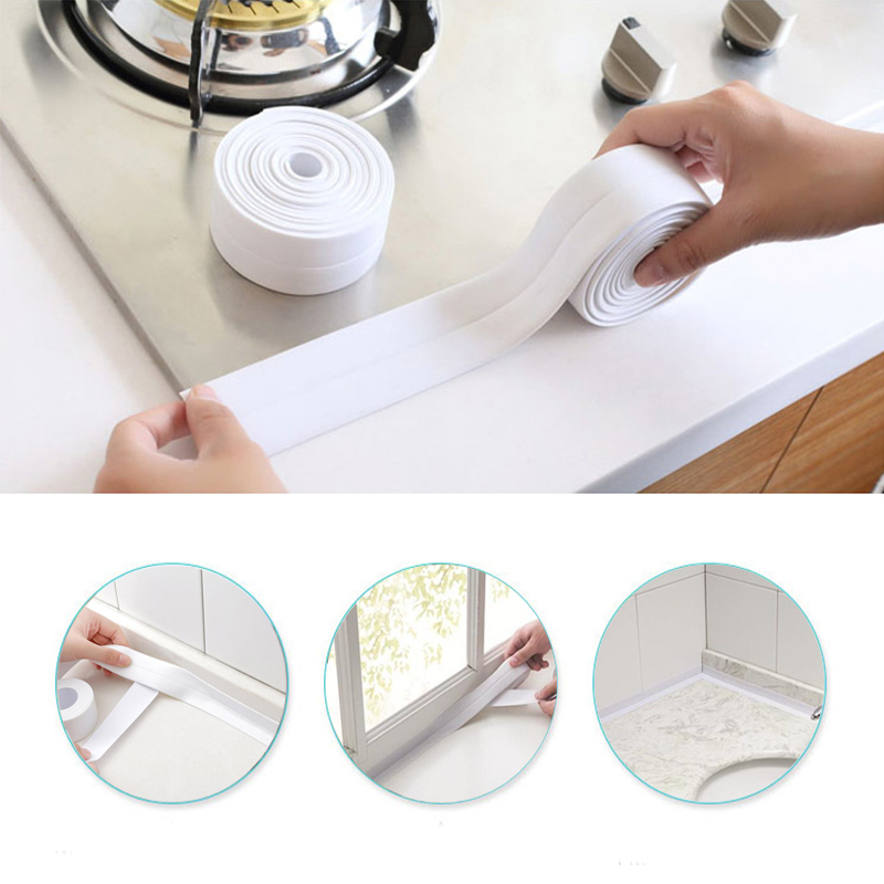 Mildew Resistant Kitchen Bathtub Bathroom Wall Sealing Tape Waterproof Mold Proof Adhesive Tile Crack Repair Mildew Tape 320cm
