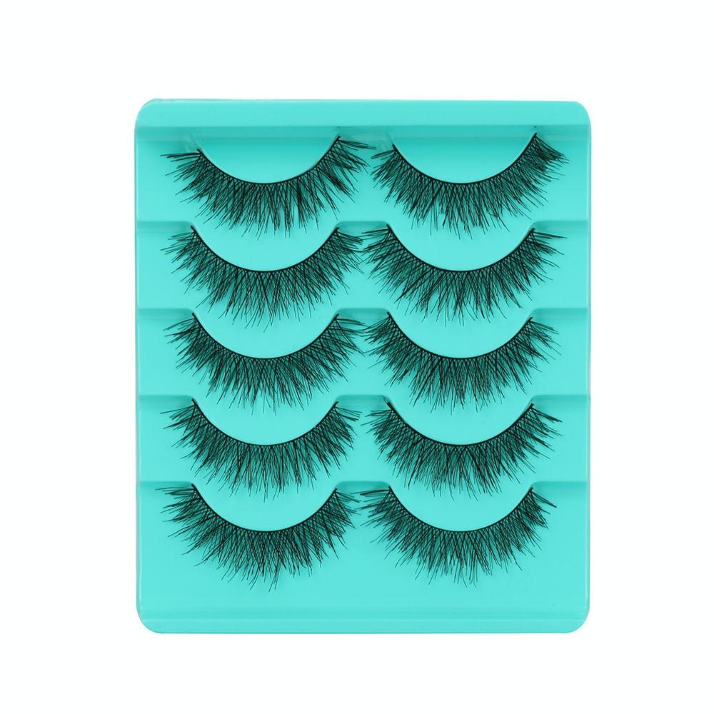 Beauty & Health False Eyelashes Professional Sale Kanbuder Mink Eyelashes 5 Pairs Eyelashes 3d Individual Eyelashes Fake Lashes 3d Mink Lashes Vendors Individual Dropship A25