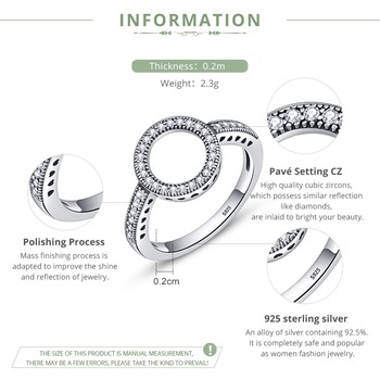 Forever Clear CZ Circle Ring1