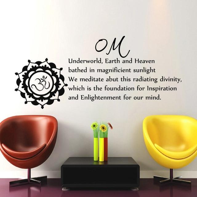 Om Teken Muurtattoo Tekst Woonkamer Verwijderbare Art Home Decor ...