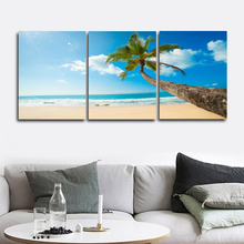 Laeacco Nordic Tropical Palm Tree Posters and Prints Abstract Paint On Canvas Painting Living Room Home Decor Wall Art