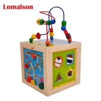 New multifunction large wooden toys around the beads educational Observing the birds around the bead frame toys for baby gift