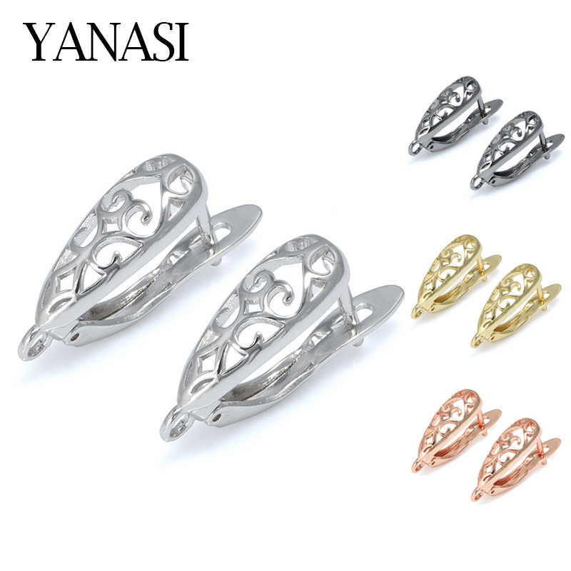 DIY Earrings Clasps Hooks for Woman Handmade Jewelry Making Accessories Fashion Design Hollow Earrings Hooks