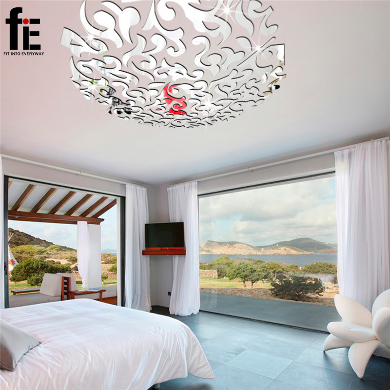 53PCS Creative magnificent blossom large flower wall decals ceiling ...