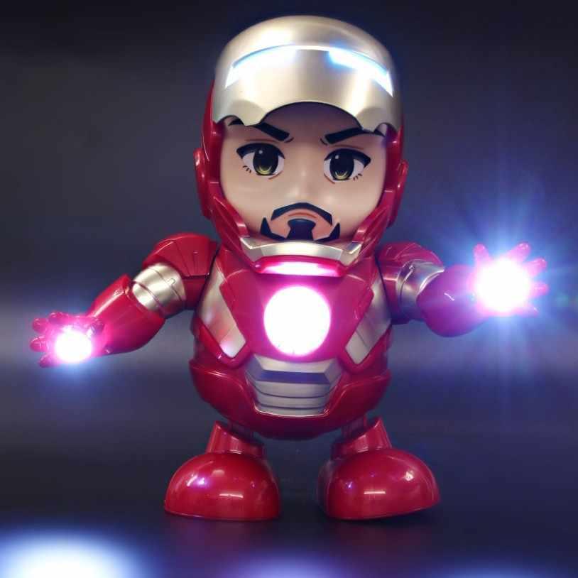 Мстители: Endgame. Танец Железный человек со светодиодный подсветкой танец свет Железный человек фигурку коллекция игрушек