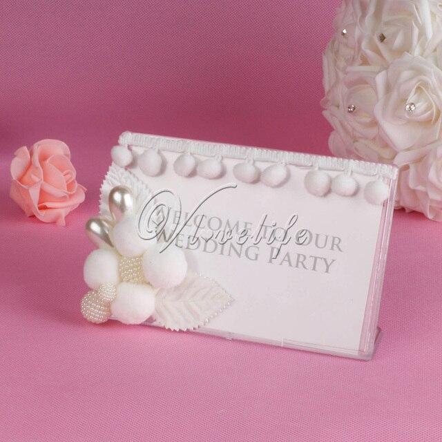 Klar Hochzeit Bord Zeichen Acryl Empfang Display Halter 4 X 6