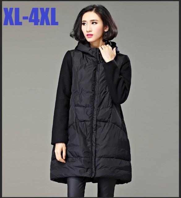 2016 mujeres Del Invierno con capucha Wadded abrigo mujer plus tamaño caliente engrosamiento casual larga outwear chaqueta acolchada parkas XXXXL XXXXXL 3110