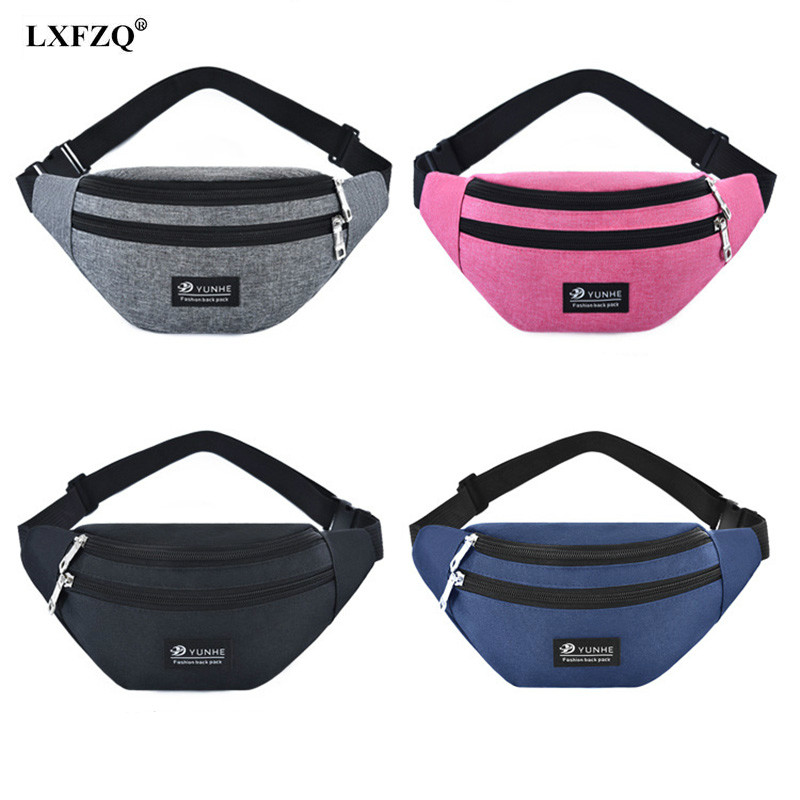Pink Fanny Pack For Women Men Waist Bag Colorful Unisex Waistbag Celula Banana Belt Bag Mobile Phone Zipper Pouch Packs Belt