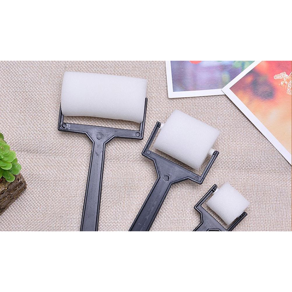 3PCS New White Sponge Brush Foam Painting Roller Brush Kids Craft Tool Drawing Toys