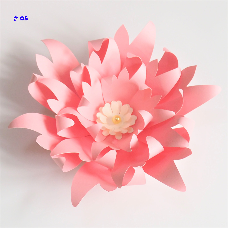 20CM Thick Cardstock Rose DIY Paper Flowers For Wedding