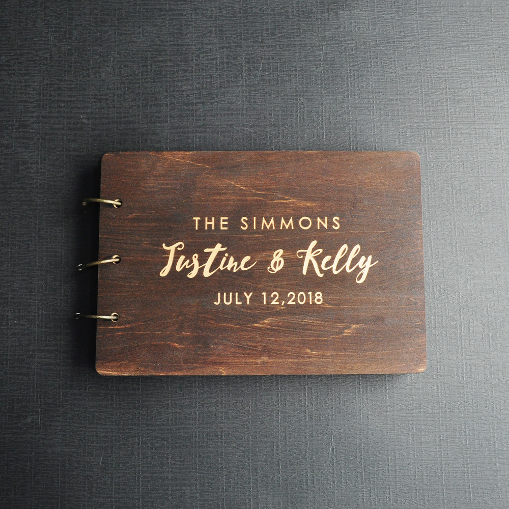 Personalized Guest Book Rustic Wedding Guest Book Wood Custom Engraved Guest book Wedding Album Gift for Couple Wedding Favors