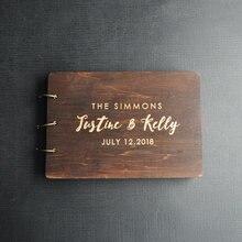 Gepersonaliseerde Gastenboek Rustieke Bruiloft Gastenboek Hout Custom Gegraveerde Gastenboek Wedding Album Gift Voor Paar Bruiloft Gunsten